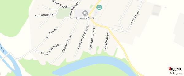Улица Шовгенова на карте Адамия аула Адыгеи с номерами домов