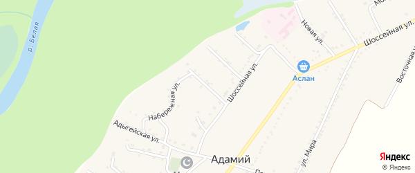 Улица Андрухаева на карте Адамия аула Адыгеи с номерами домов