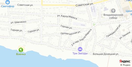 Пролетарская улица в Лисках с номерами домов на карте. Спутник и схема онлайн