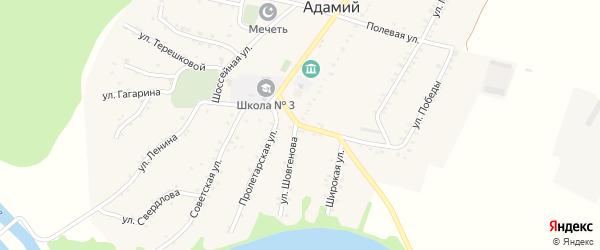 Школьная улица на карте Адамия аула Адыгеи с номерами домов