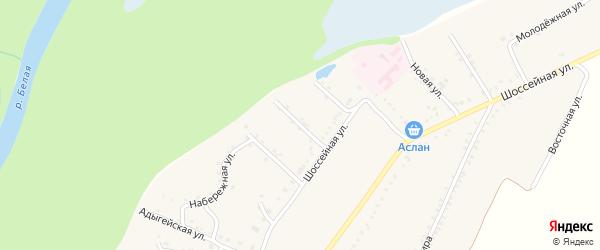 Майкопская улица на карте Адамия аула Адыгеи с номерами домов