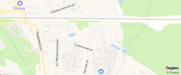 Болотная улица на карте Петушков с номерами домов