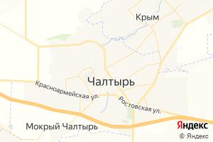 Карта с. Чалтырь Ростовская область