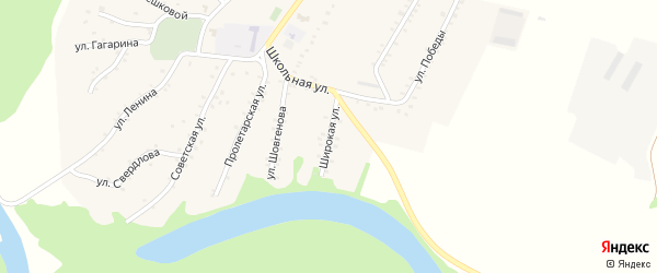 Широкая улица на карте Адамия аула Адыгеи с номерами домов
