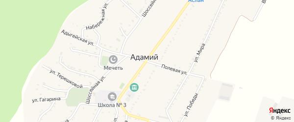 Адыгейская улица на карте Адамия аула Адыгеи с номерами домов