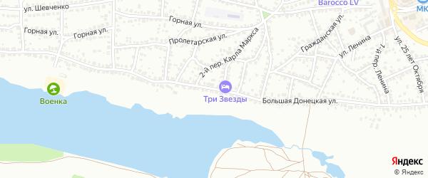 Улица Донецкая Б. на карте Лисок с номерами домов