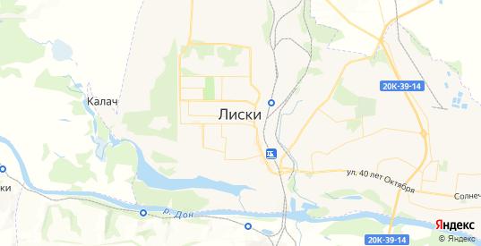 Карта Лисок с улицами и домами подробная. Показать со спутника номера домов онлайн