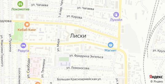 Улица 169 км в Лисках с номерами домов на карте. Спутник и схема онлайн