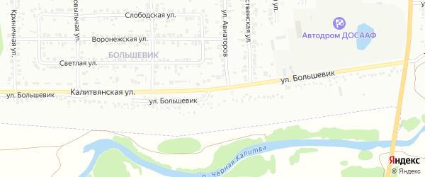Улица Большевик на карте Россоши с номерами домов