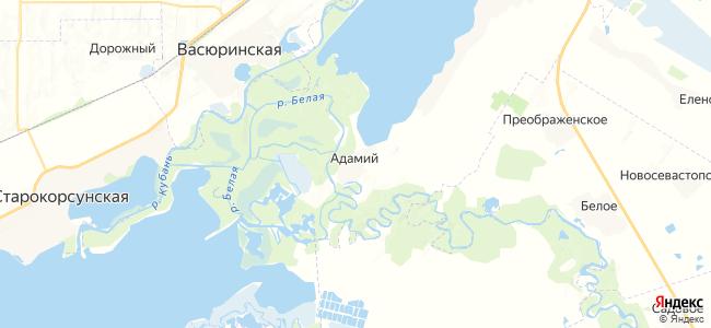 Адамий на карте