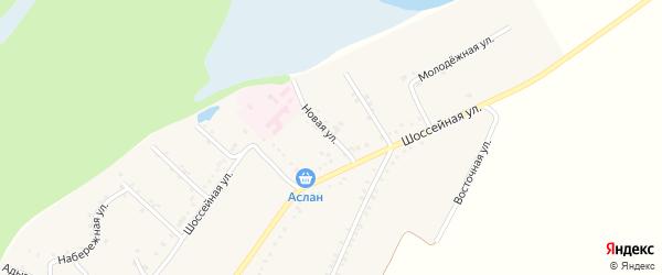 Новая улица на карте Адамия аула Адыгеи с номерами домов