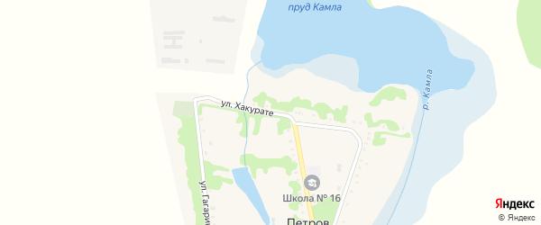 Улица Хакурате на карте хутора Петрова Адыгеи с номерами домов