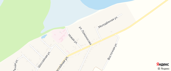 Улица Ломоносова на карте Адамия аула с номерами домов