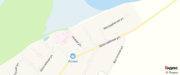 Улица Ломоносова на карте Адамия аула Адыгеи с номерами домов