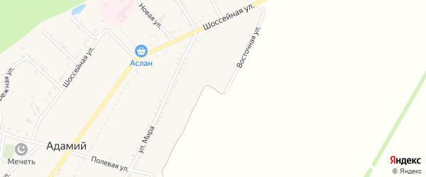 Восточная улица на карте Адамия аула Адыгеи с номерами домов