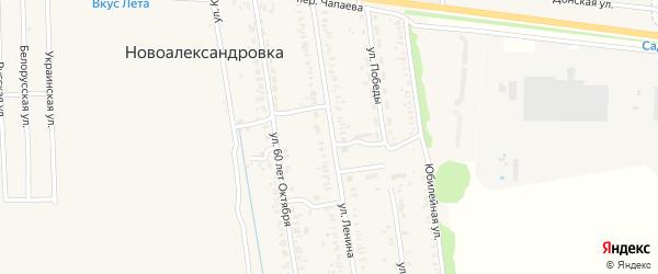Светлая улица на карте территории Мичуринец-5 Ростовской области с номерами домов