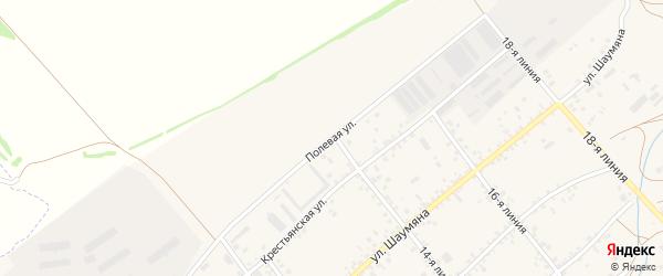 Полевая улица на карте села Крыма Ростовской области с номерами домов