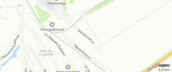 Шахтерская улица на карте Липецка с номерами домов