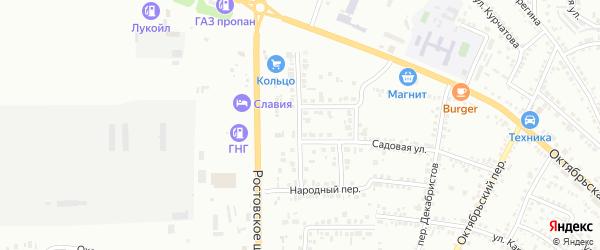 Березовая улица на карте Россоши с номерами домов
