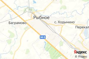 Карта г. Рыбное Рязанская область