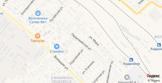 Первомайская улица в Рыбном с номерами домов на карте. Спутник и схема онлайн