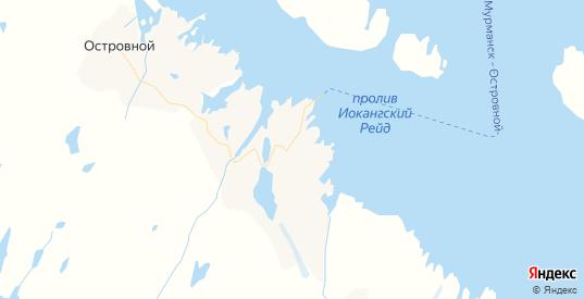 Карта Островного с улицами и домами подробная. Показать со спутника номера домов онлайн
