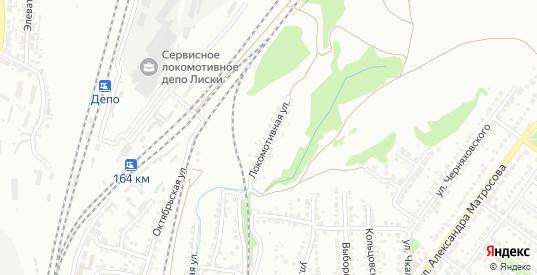 Локомотивная улица в Лисках с номерами домов на карте. Спутник и схема онлайн