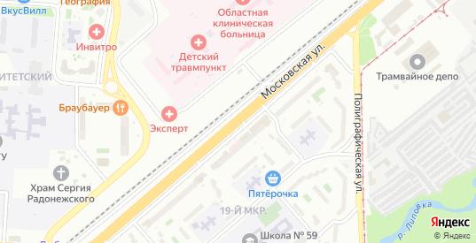 Московская улица в Липецке с номерами домов на карте. Спутник и схема онлайн