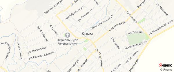 Карта села Крыма в Ростовской области с улицами и номерами домов