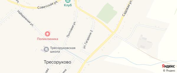 Улица Гагарина 2-й на карте села Тресоруково Воронежской области с номерами домов