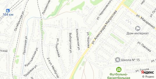 Кольцовская улица в Лисках с номерами домов на карте. Спутник и схема онлайн