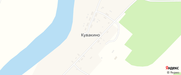 Полевая улица на карте деревни Кувакино Архангельской области с номерами домов