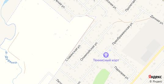 Славянская улица в Рыбном с номерами домов на карте. Спутник и схема онлайн