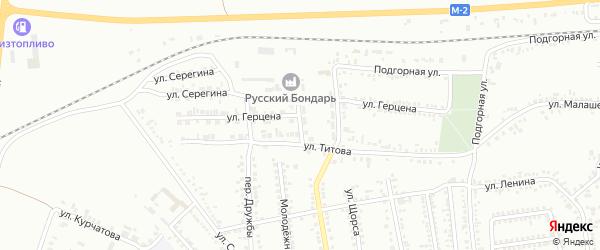 Улица Герцена на карте Россоши с номерами домов