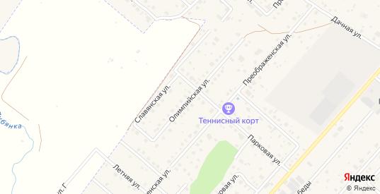 Олимпийская улица в Рыбном с номерами домов на карте. Спутник и схема онлайн