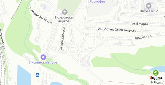 Красной 1-й переулок в Лисках с номерами домов на карте. Спутник и схема онлайн
