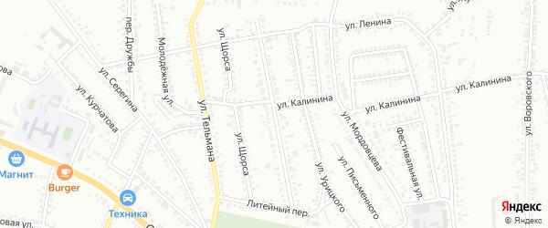 Улица 3 Интернационала на карте Россоши с номерами домов