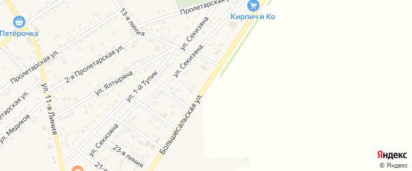 Большесальская улица на карте села Крыма Ростовской области с номерами домов