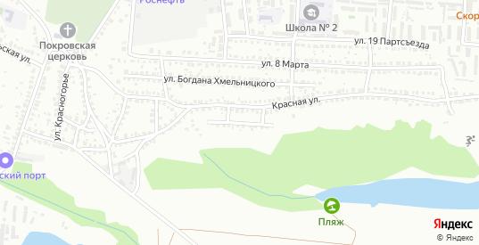Красной 4-й переулок в Лисках с номерами домов на карте. Спутник и схема онлайн