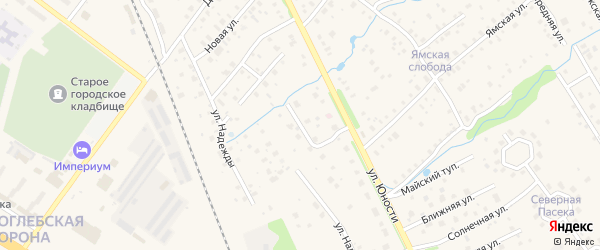 Светлый переулок на карте Тутаева с номерами домов
