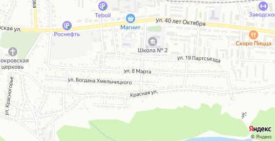 Улица 8 Марта в Лисках с номерами домов на карте. Спутник и схема онлайн