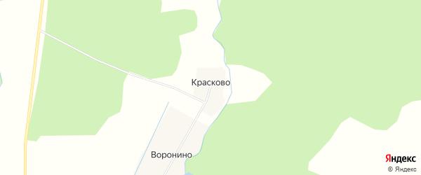 Карта деревни Красково в Ярославская области с улицами и номерами домов