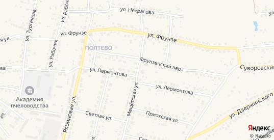 Мещерская улица в Рыбном с номерами домов на карте. Спутник и схема онлайн