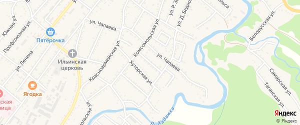 Кубанская улица на карте Хадыженска с номерами домов