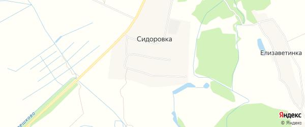 Карта деревни Сидоровки в Рязанской области с улицами и номерами домов
