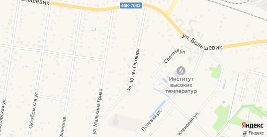 Улица 40 лет Октября в Шатуре с номерами домов на карте. Спутник и схема онлайн