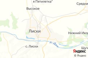 Карта г. Лиски Воронежская область