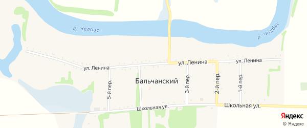 Улица Ленина на карте Бальчанского хутора Краснодарского края с номерами домов