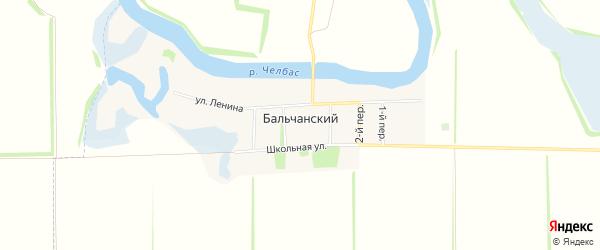 Карта Бальчанского хутора в Краснодарском крае с улицами и номерами домов