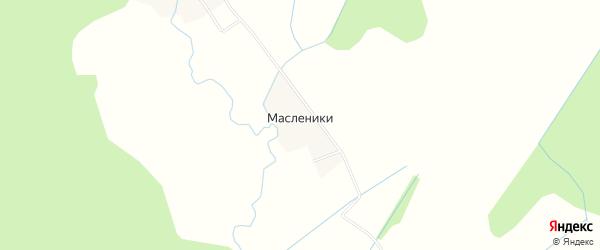 Карта деревни Масленики в Ярославская области с улицами и номерами домов